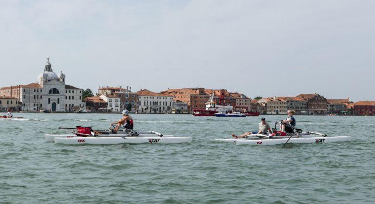 vorwärts rudern durch Venedig mit dem XCAT - Vogalonga 2017