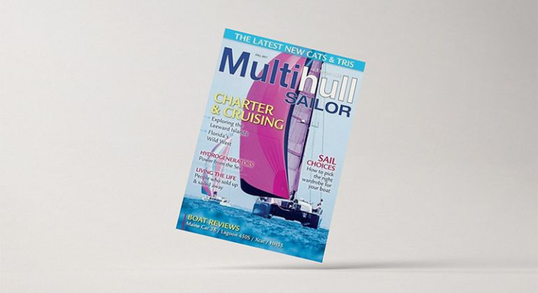 XCAT featured in the Multihull Sailor Magazin Fall 2017