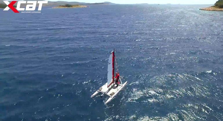 XCAT Sail Wenden ohne Vorsegel