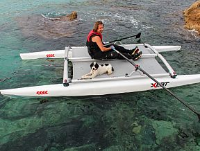 XCAT RowMotion Rowing Sculling Catamaran Folding kayak canoe boat