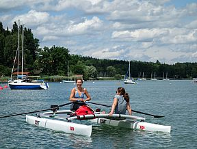 RowVista forward sculling rowing folding kayak canoe boat klepper nortik