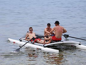 RowVista row rowing forward sculling front feathering rower
