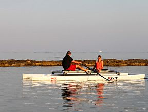XCAT RowMotion row rowing sculling catamaran boat stable