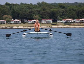 RowVista row catamaran forward sculling rowing front rower