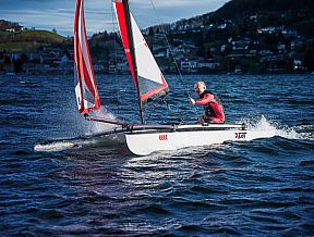xcat sailboat catamaran beach dinghy laser daysailer small boat