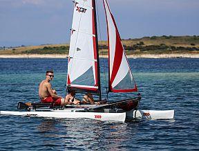 xcat sailboat catamaran beach dinghy laser daysailer