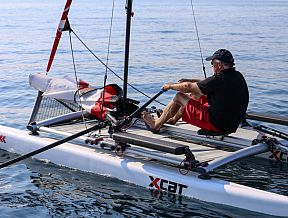 xcat sailboat catamaran beach dinghy laser daysailer