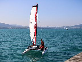 xcat sailboat catamaran portable car roof toppable