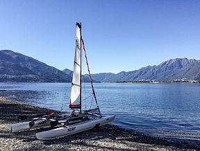 xcat segelboot boot katamaran einfach mitnehmbar auto autodach transport