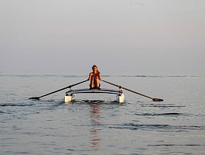 XCAT RowMotion Rowing Sculling Oars Catamaran Stable