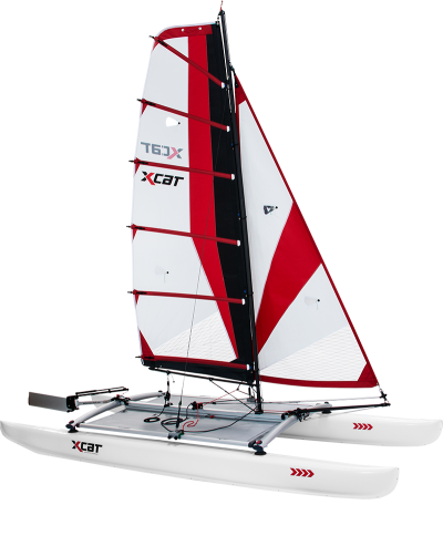 Mobile sailing catamaran <br />